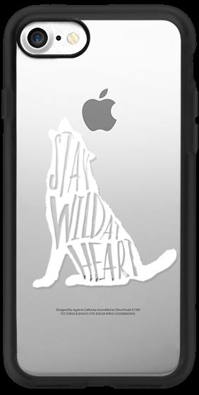 Stay Wild Wolf - White Transparent