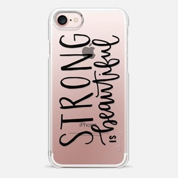 iPhone 7 Case Fitness // Strong is Beautiful // Hand Lettering