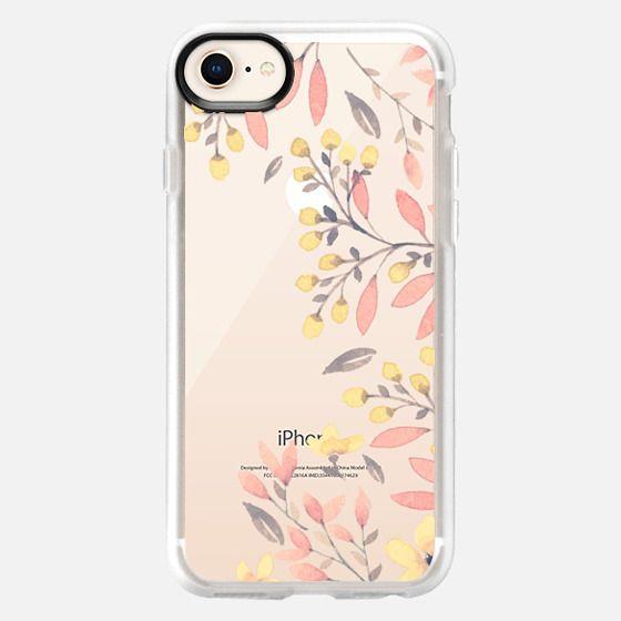Peachy Spring Florals // Watercolor Flowers Transparent - Snap Case