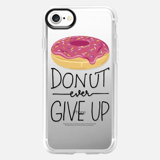 Donut Ever Give Up - Classic Grip Case