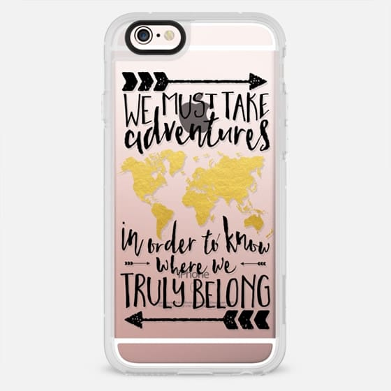 Adventures - Black & Gold Transparent