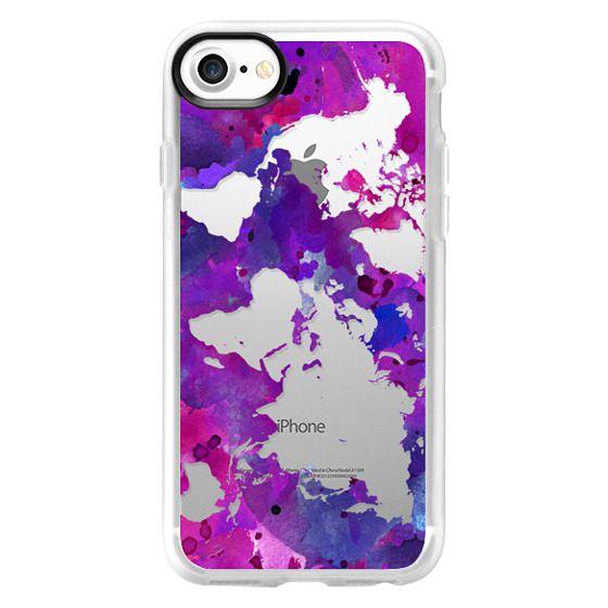 Ultra Impact iPhone X Case - Paint Splatter World Map - Graffiti Splash -  Transparent
