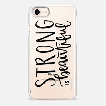 iPhone 8 Case Fitness // Strong is Beautiful // Hand Lettering