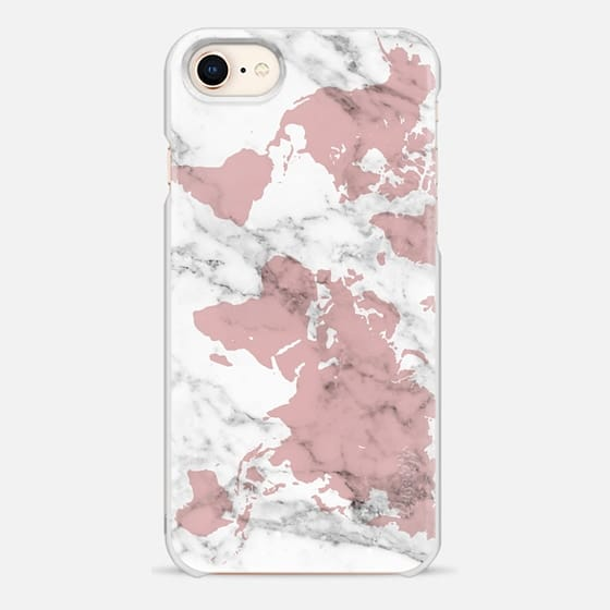 pink marble world map