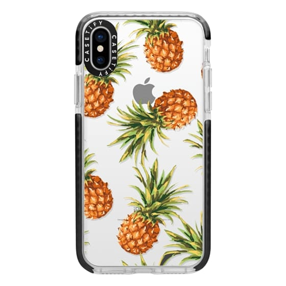 iPhone X Cases - Summer Pineapples! Transparent