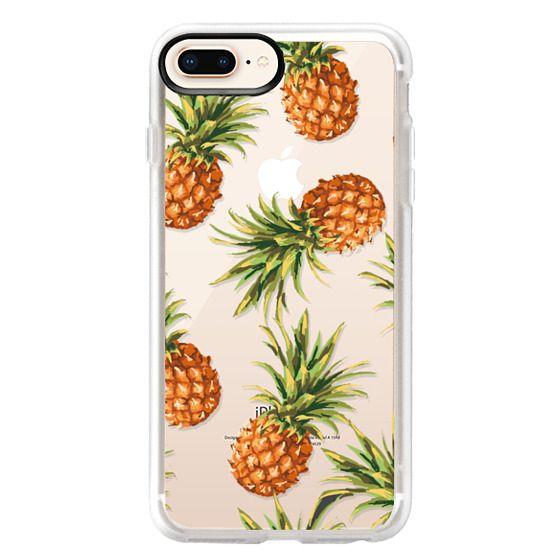 iPhone 8 Plus Cases - Summer Pineapples! Transparent