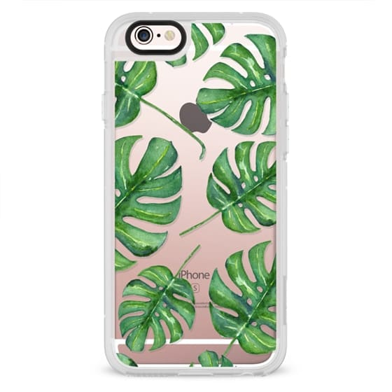 iPhone 6s Cases - Tropical Palm Leaves Pattern // Watercolor Transparent