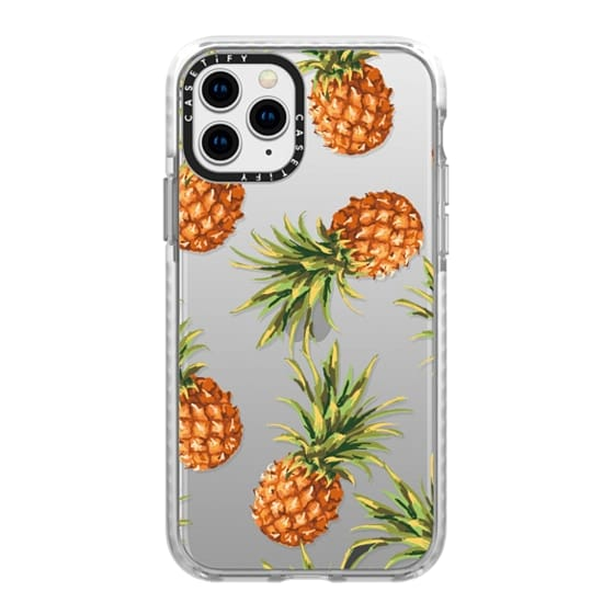 iPhone 11 Pro Cases - Summer Pineapples! Transparent