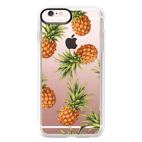 iPhone 6s Plus Cases - Summer Pineapples! Transparent