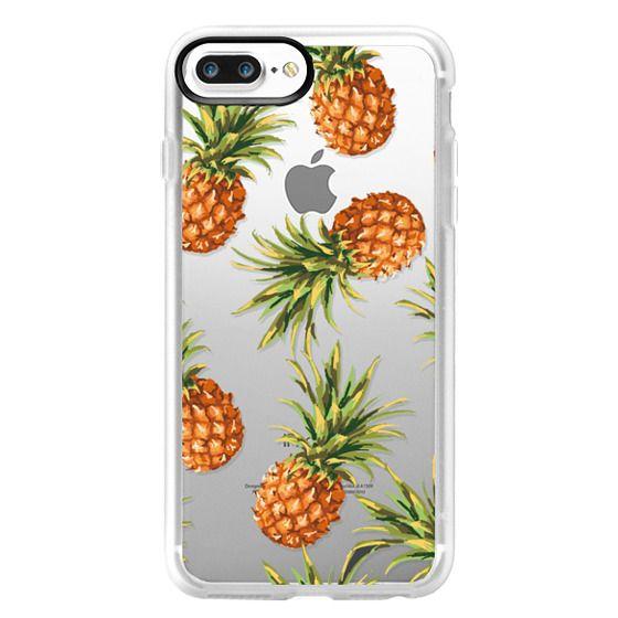 iPhone 7 Plus Cases - Summer Pineapples! Transparent