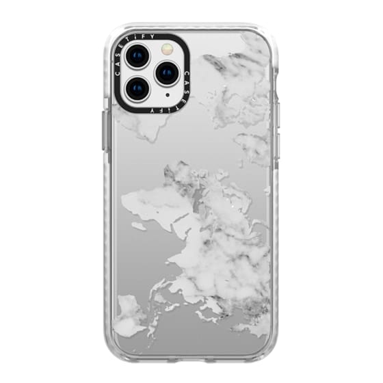 iPhone 11 Pro Cases - Marble World Map II