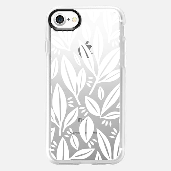 White leaves by Myriam Van Neste - Classic Grip Case