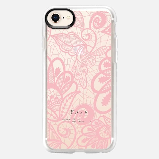 Flower Pink Lace - Snap Case