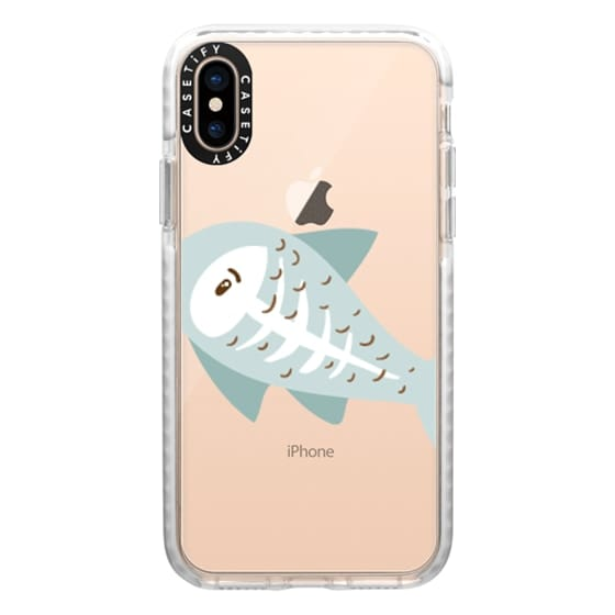 iPhone XS Cases - X-ray Fish