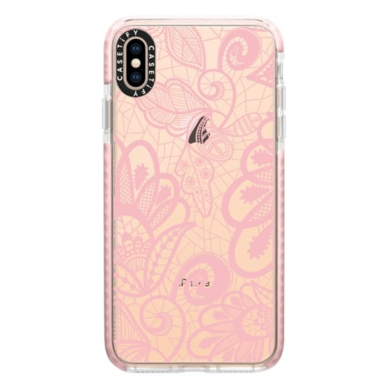 iPhone XS Max Cases - Flower Pink Lace