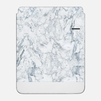 "iPad Pro 12.9"" Sleeve Modern blue white trendy marble texture pattern"