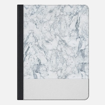 "iPad Pro 9.7"" ケース Modern blue white trendy marble texture pattern"