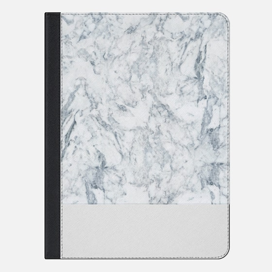 Modern blue white trendy marble texture pattern