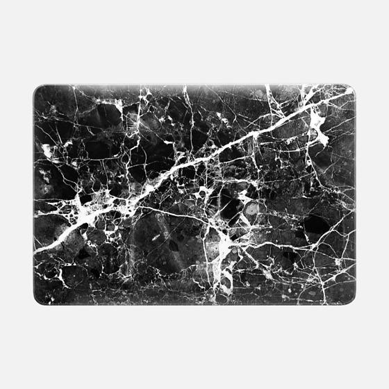 Black white modern chic marble texture patterns