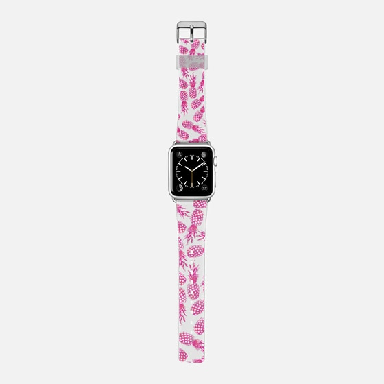 Girly hot pink abstract pineapple pattern  -