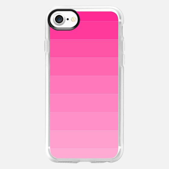 Bold pink ombre modern stripes pattern -