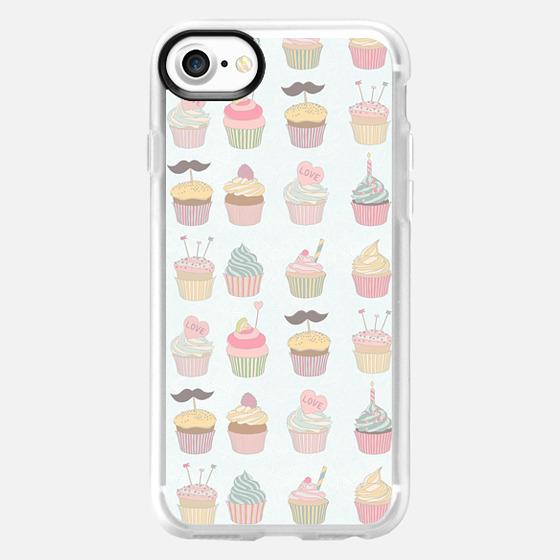 Girly cute sweet pastel colors cupcake pattern - Wallet Case