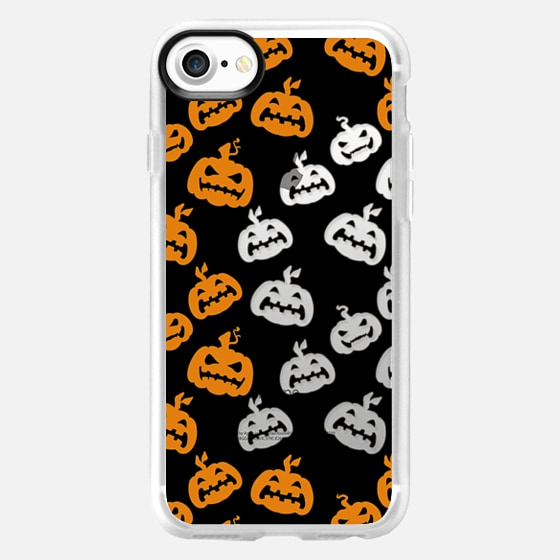 Black orange halloween pumpkins -