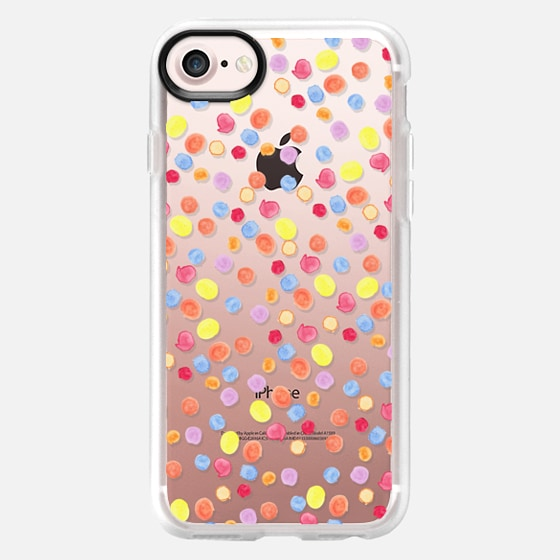 Modern hand painted colorful watercolor polka dots - Classic Grip Case