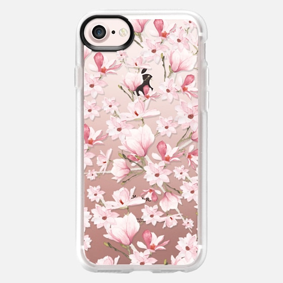 Girly blush pink watercolor modern elegant floral - Classic Grip Case