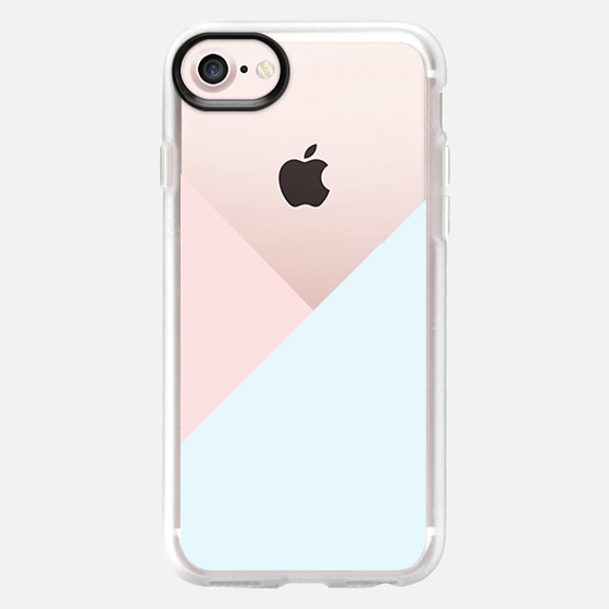 Modern pastel pink blue white geometrical triangles - Classic Grip Case