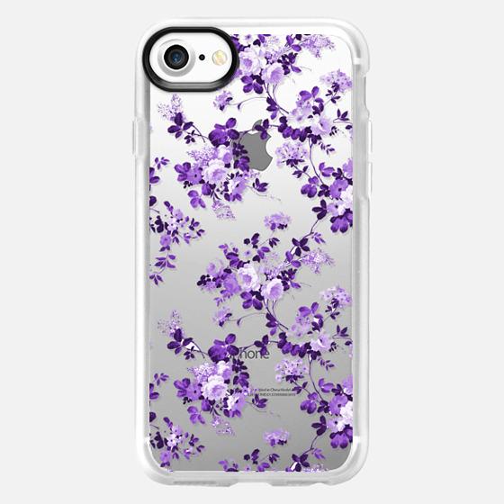 Vintage lavender purple elegant roses floral - Classic Grip Case