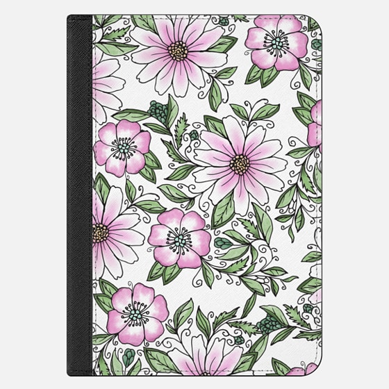 Blush pink green watercolor hand painted floral
