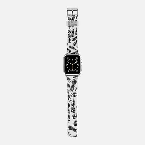 Vintage black white abstract pineapple pattern  -