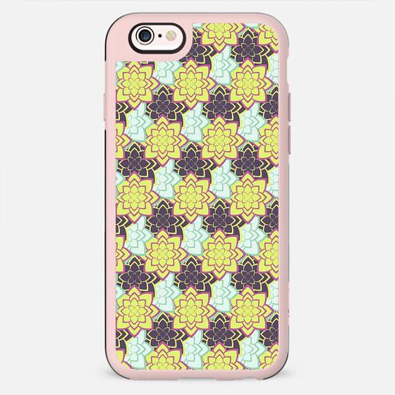 Trendy modern lime green black cactus floral pattern - New Standard Case