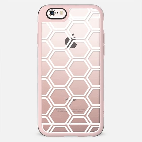 Simple geometrical white modern abstract pattern - New Standard Case