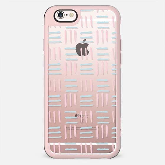 Modern hand painted blush pink teal brushstokes pattern - New Standard Case