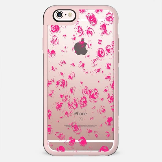 Whimsical abstract pink white geometric texture pattern