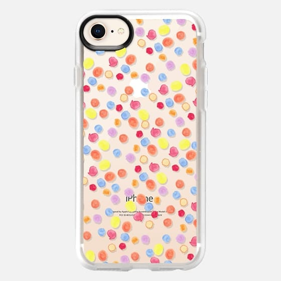 Modern hand painted colorful watercolor polka dots - Snap Case