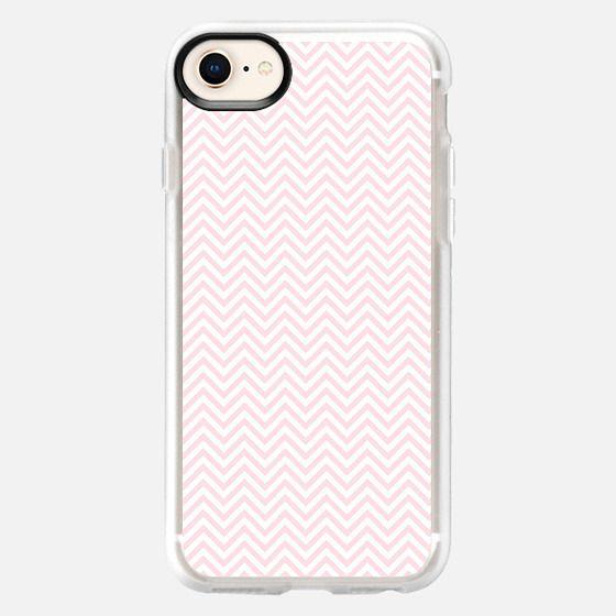 Girly rose pink white elegant chevron geometrical - Snap Case