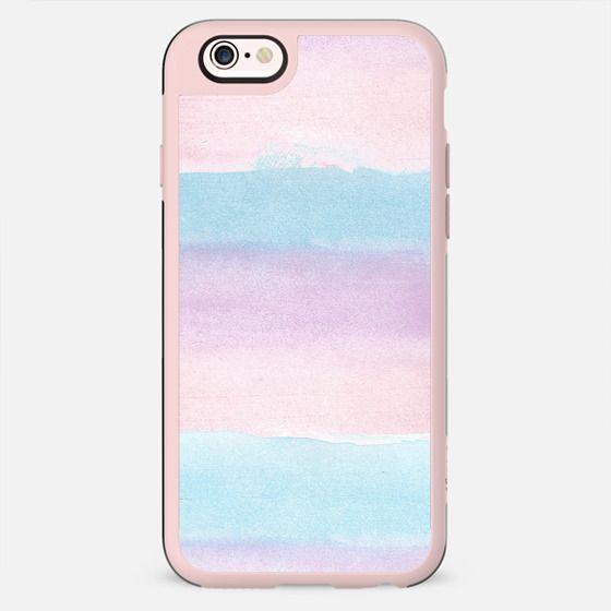 Modern blush pink teal watercolor brushstrokes stripes