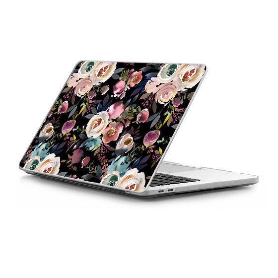 MacBook Pro Touchbar 13 Sleeves - Pastel pink purple watercolor hand painted flowers
