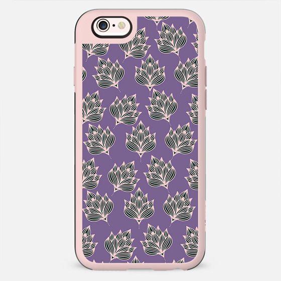 Hand painted blush pink violet modern floral