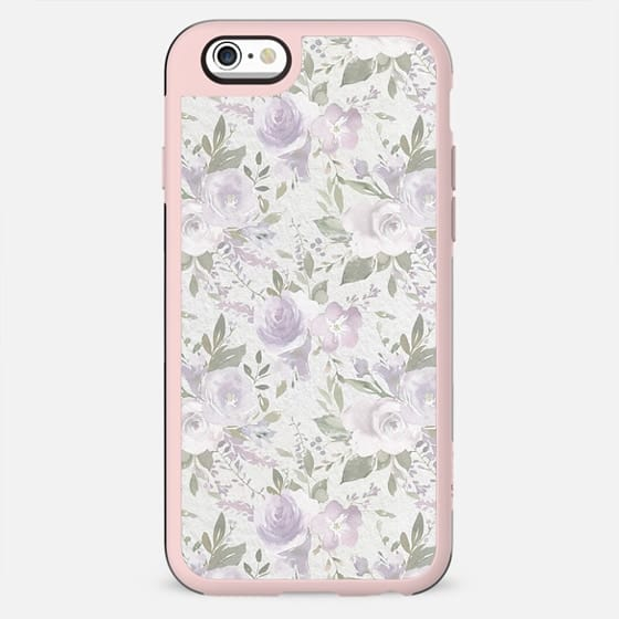 Mauve green lavender blush watercolor boho floral