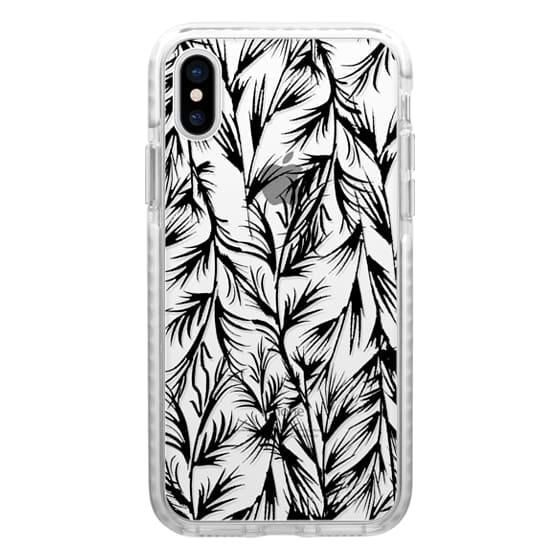 iPhone 6s Cases - Tropical black white floral leaves pattern