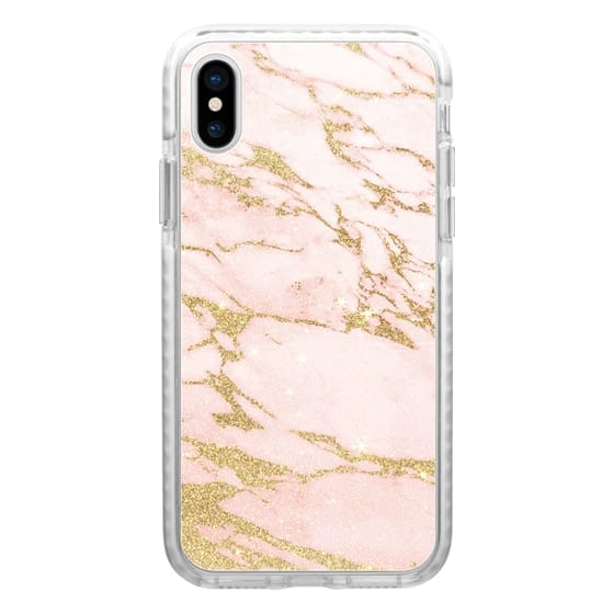 iPhone 6s Cases - Blush pink abstract gold glitter marble