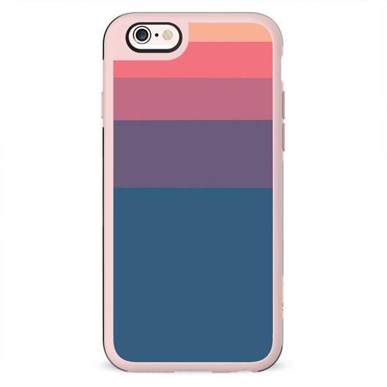 Geometrical orange pink violet blue minimalist stripes