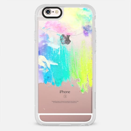 Girly colorful watercolor brushstrokes pattern - New Standard Case