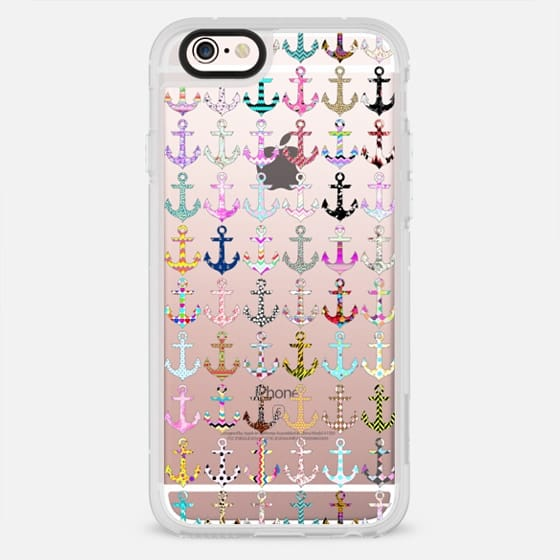 Girly colorful chevron floral nautical anchor pattern - New Standard Case