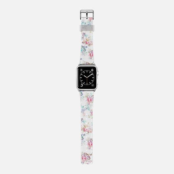 Vintage teal pink chic roses flowers pattern -