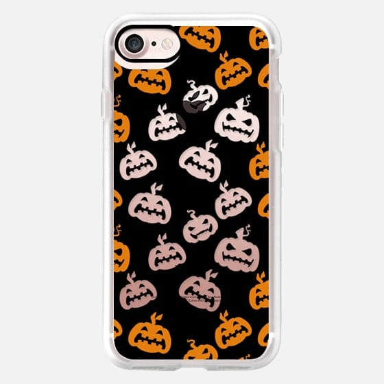 Black orange halloween pumpkins -